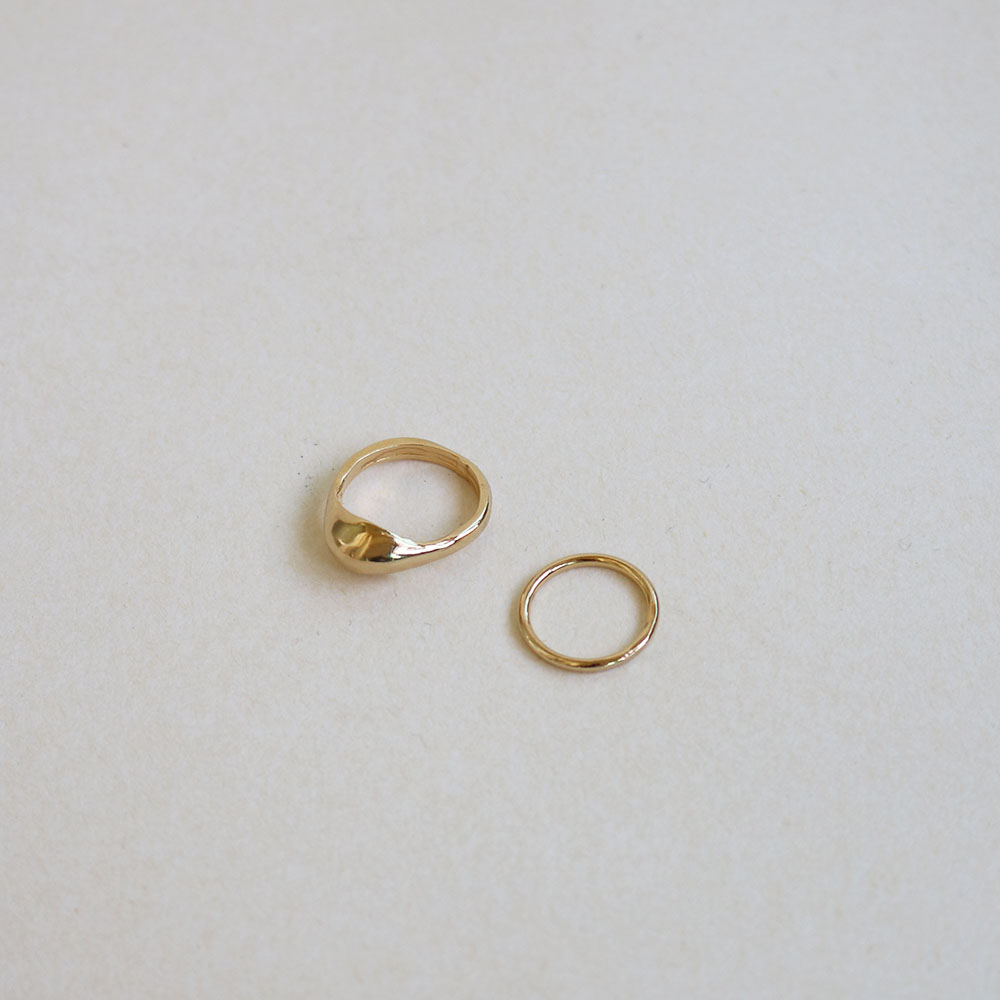 "Select Ring 001 ""Plated Gold + Silver 925"""