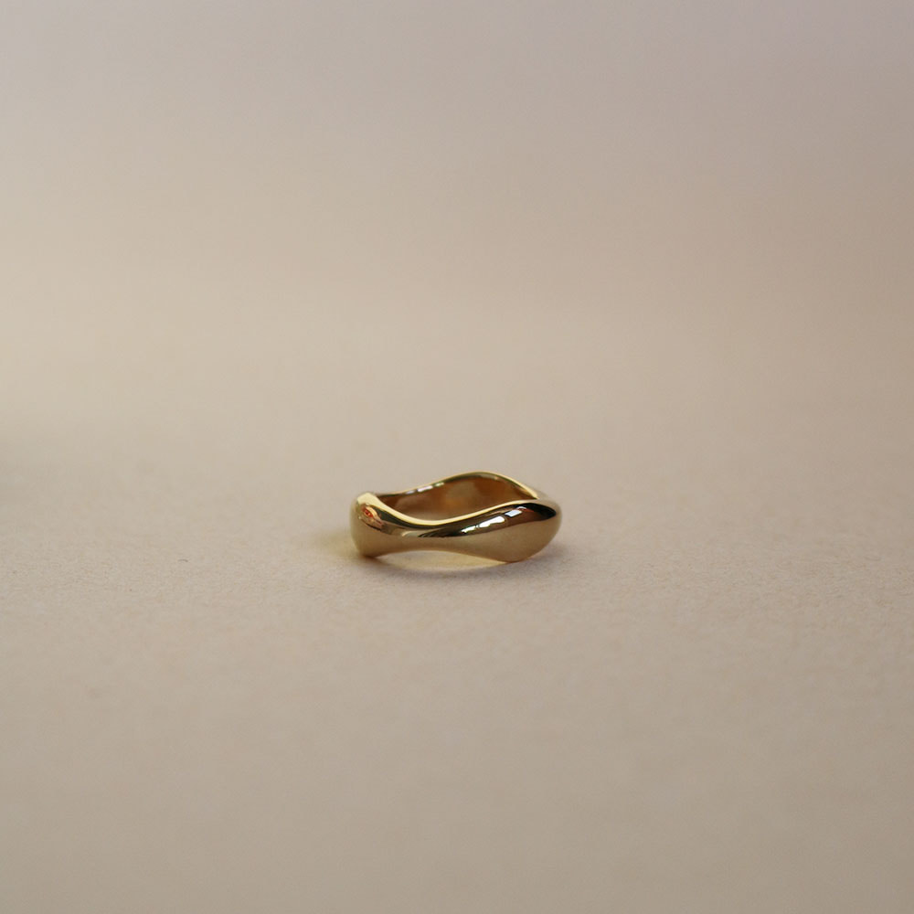 "Select Ring 004 ""Plated Gold + Silver 925"""