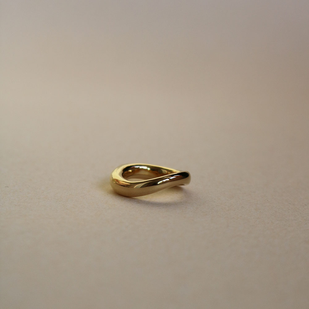 "Select Ring 005 ""Plated Gold + Silver 925"""